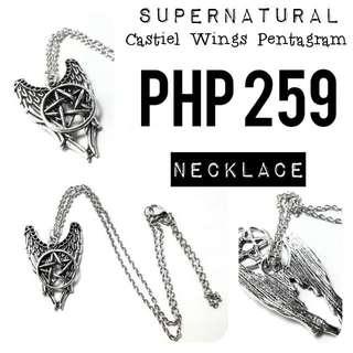 Necklace   Supernatural: Castile Wings Pentagram