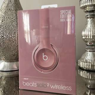 Rose Gold Solo2 Wireless Beats
