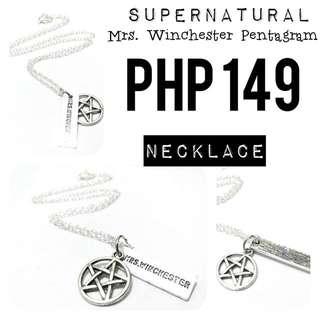 Necklace   Supernatural: Mrs. Winchester Pentagram