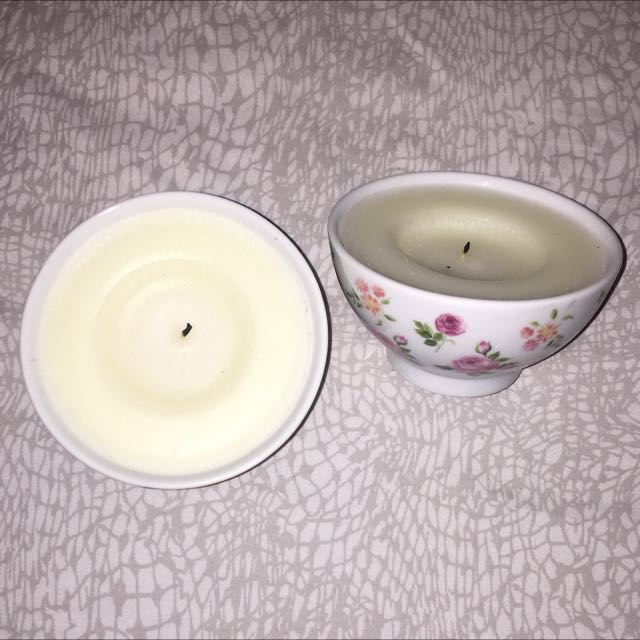 2PK IKEA Floral Candles