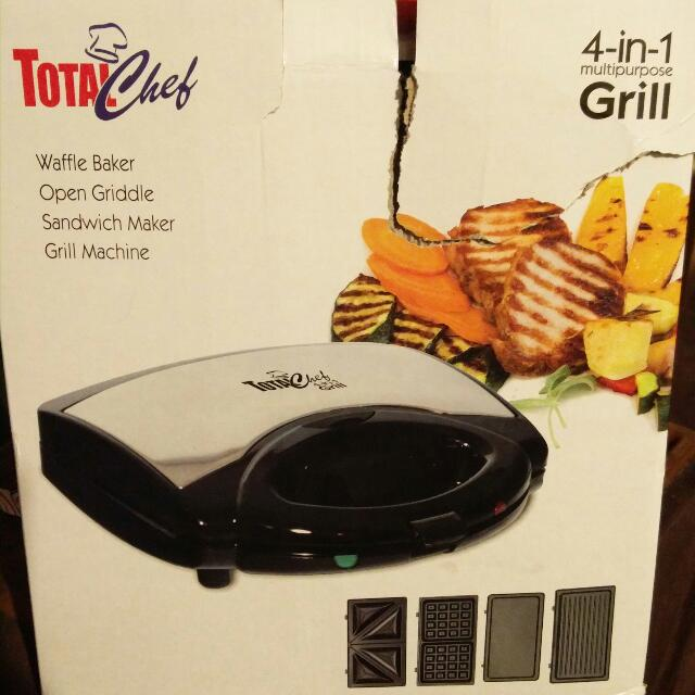 4 In 1 Grill (Waffle, Panini/Sandwich, Griddle, Grill)