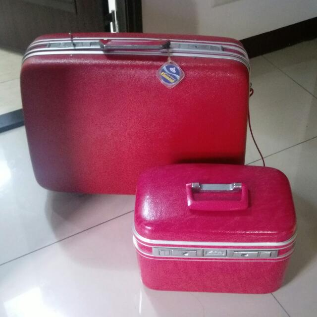 古著行李箱化妝箱