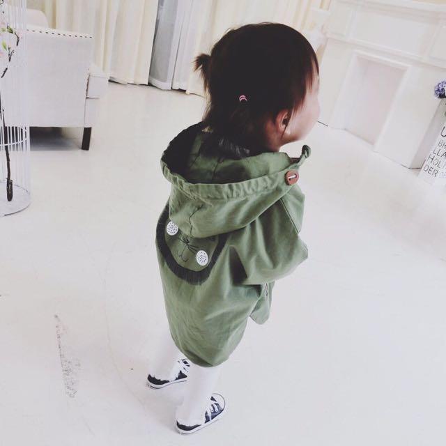 💥現貨💥 韓版 寶寶 純棉 風衣 斗篷 外套