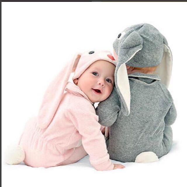 💥現貨💥 歐美 ins 爆款 寶寶 包腳 連身衣 造型服 兔裝