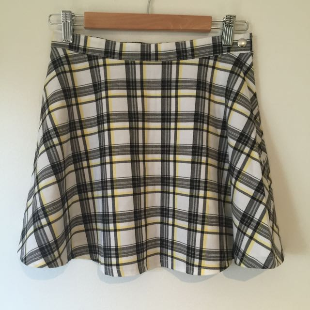 American Apparel Check Mini Skirt