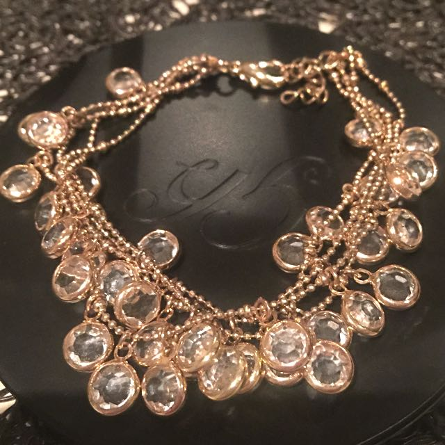 Angelique Gold And Crystal Bracelet