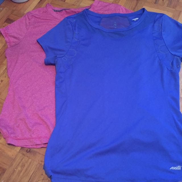 Avia & Athletic Works Workout Shirts !