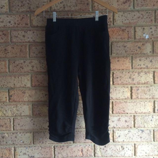 Black 3/4 Pants