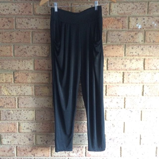 Black Draped Pants