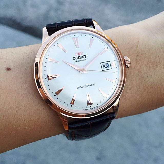 single men in orient Orient symphony is another classy dress watch by the japanese brand, and this review is dedicated for this beautiful timepiece it's in the same class as the bambino, another beautiful dress watch by orient both are affordable and have the same classical look with the biggest difference in the crystal shape.