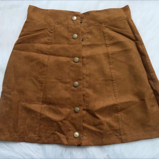Brand new: Brown button Up Skirt