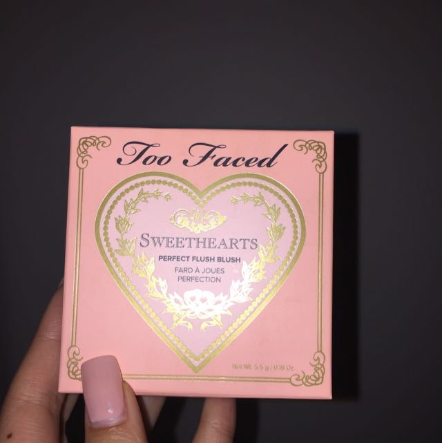 EMPTY Too Faced Sweet Hearts Blush Box