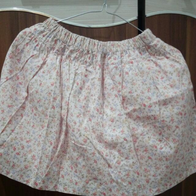 Flaire Skirt Pink Flowers