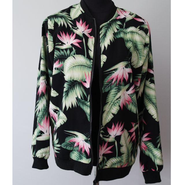 Floral Bomber Jacket Size Large