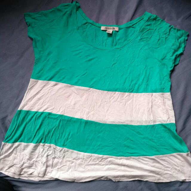 Forever21 strip tee