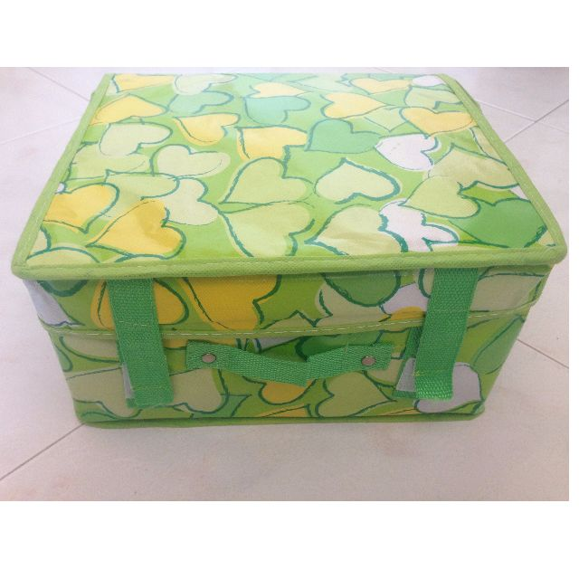 Green Hearts Foldable Storage Box