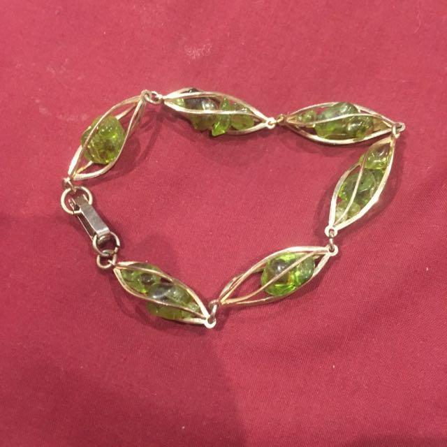 Green Jewelled Bracelet