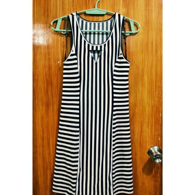 Guess Black & White Dress