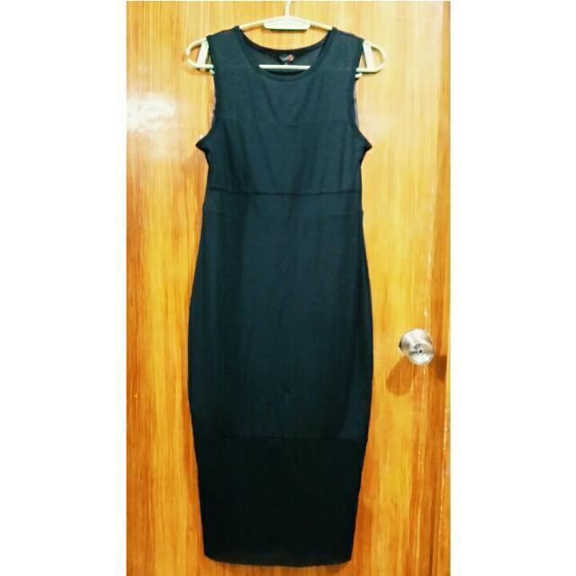 Guess Long Black Dress