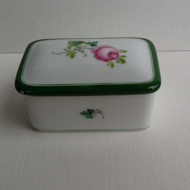 Herend VRH Vieille Rose de Herend porcelain box small