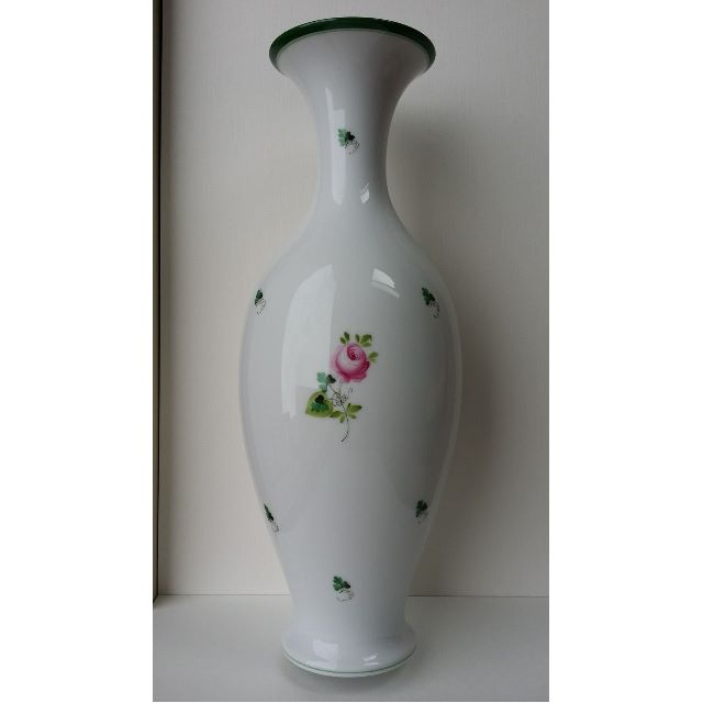 Herend VRH Vieille Rose de Herend porcelain vase tall