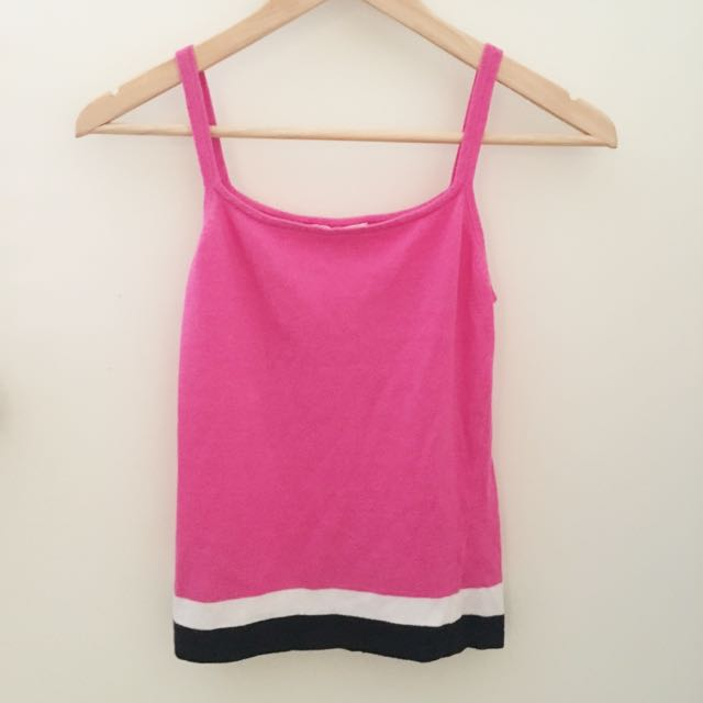 Hot Pink Striped Singlet