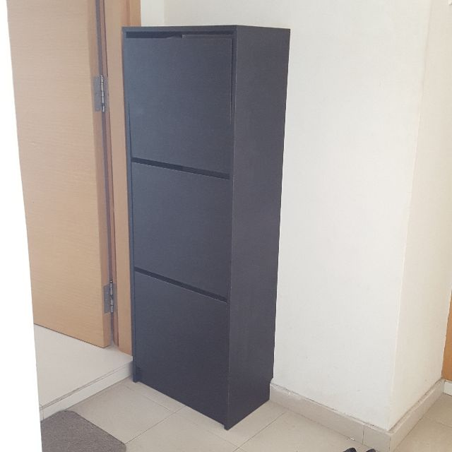 & Ikea BISSA Shoe Cabinet Furniture on Carousell