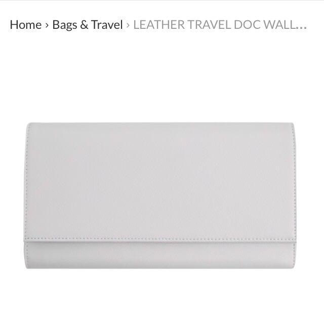 Kikki K Leather Travel Wallet