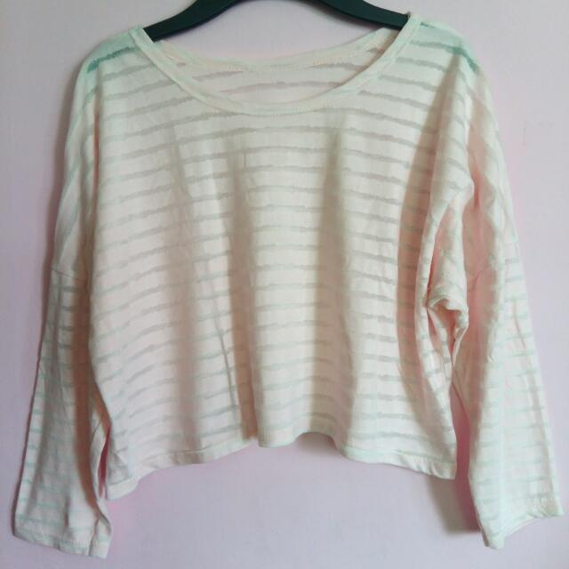 Light Pink Longsleeve Crop Top