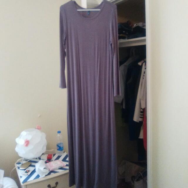 Long Sleeved Grey Dress8