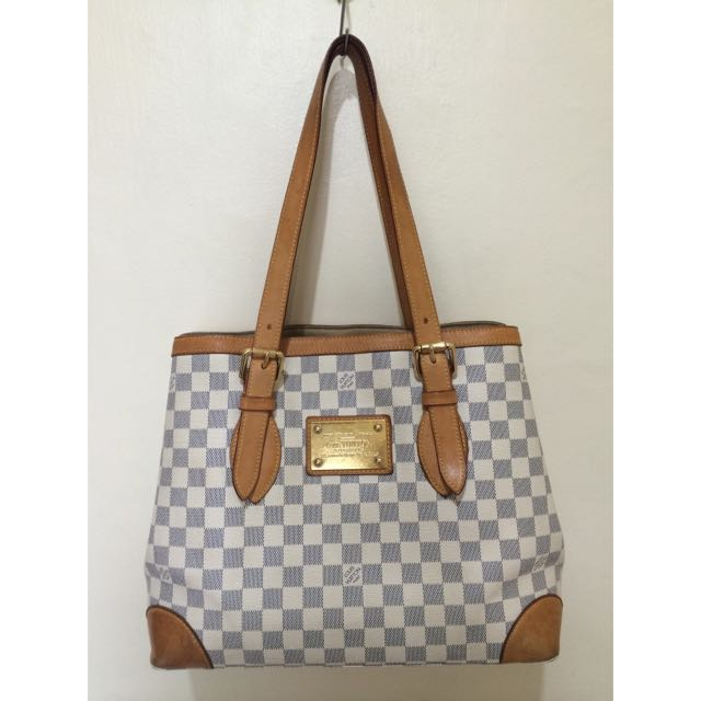 GUARANTEED AUTHENTIC LOUIS VUITTON HAMPSTEAD MM DAMIER AZUR