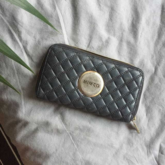 MIMCO large Black Quilted Wallet