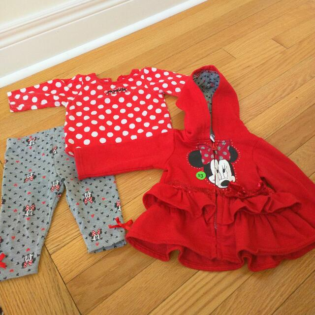 Minnie Mouse 3 Piece Outfit