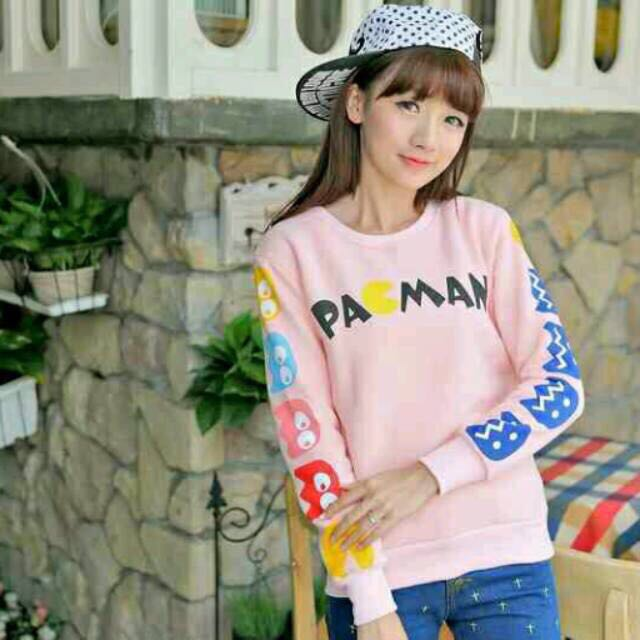 NEW! Sweater Pacman (sweater Bkk/ Sweater Murah/ Outer/ Sweater Bangkok/ Premium Quality/ Sweater H&m/ Sweater Baru/ Under 50k)