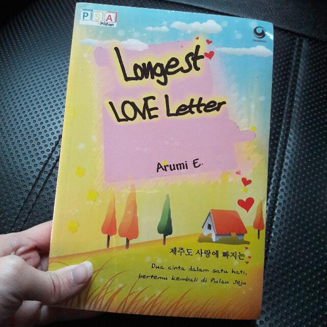 Novel Longest Love Letter