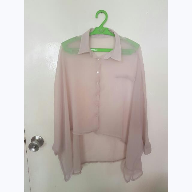 Old Rose Sheer Blouse