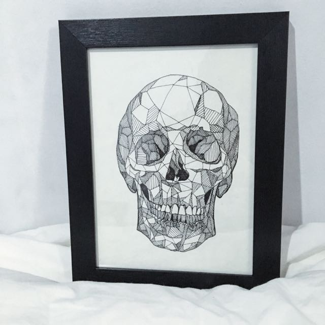 Pen & Ink Geometric Skull
