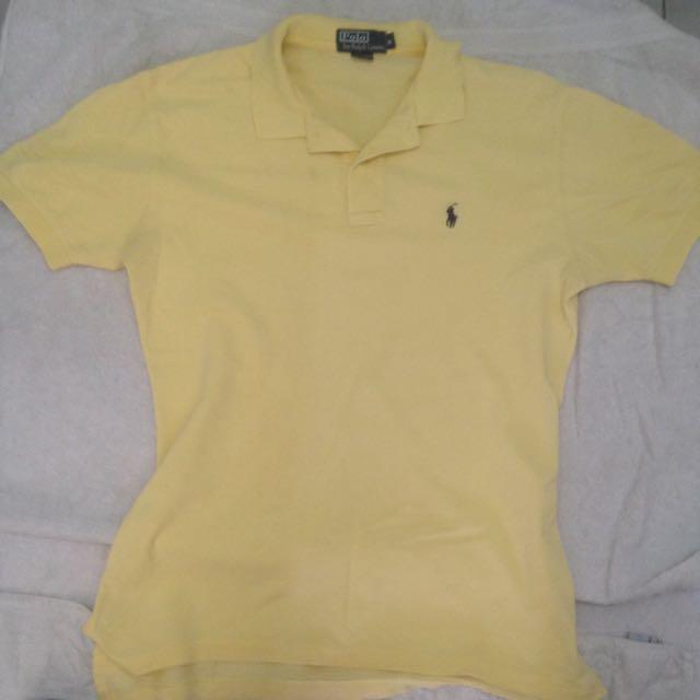 Polo Ralph Lauren Polo T Shirt Size M Men's Medium light yellow