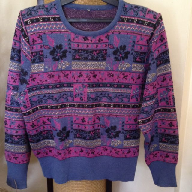 Pre-loved Patterned Sweater