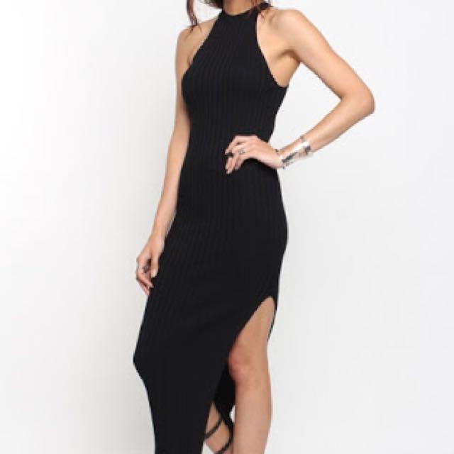 GREY Scarlet Halter Neck Dress