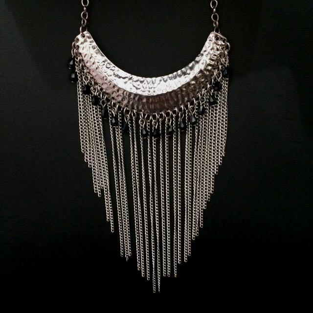 Silver Boomerang Necklace
