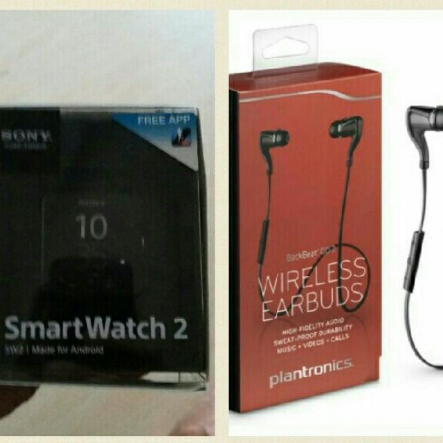 Sony SmartWatch2 & Plantronics Backbeat2