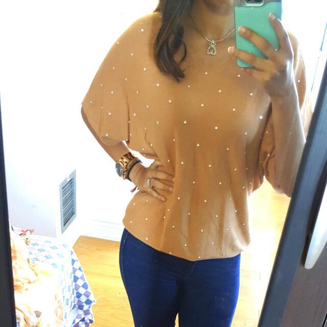 Tan Studded Shirt