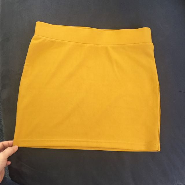 Temt Yellow Mustard Skirt Size S