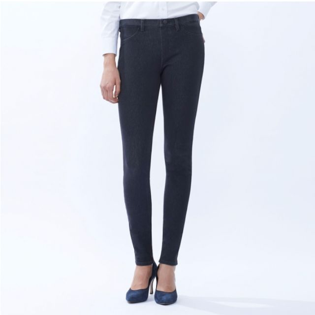1942babc591c08 Uniqlo women denim leggings pants. Jeans leggings, or jeggings are XXL  size, black, and accommodates waist 81-87cm, Hip 106-112cm, Women's  Fashion, ...