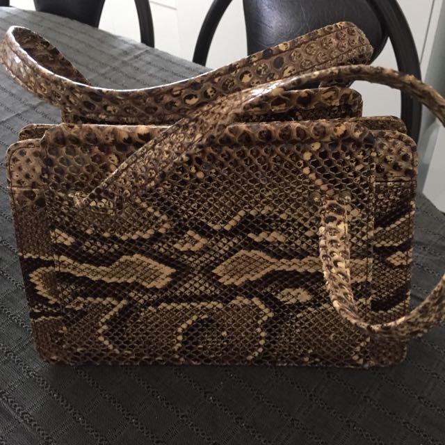 Vintage Bag Snake Skin
