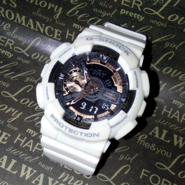 White Matte G-Shock Casio 5146