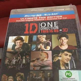1D One Direction This Is Us Blu Ray(2D + 3D)