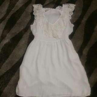 Bardot Dress White Size 12