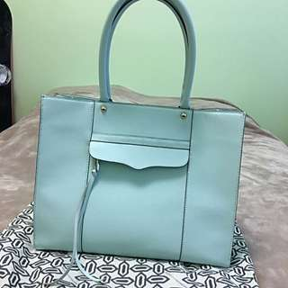 Rebecca Minkoff Medium M.A.B Tote in Mint Blue